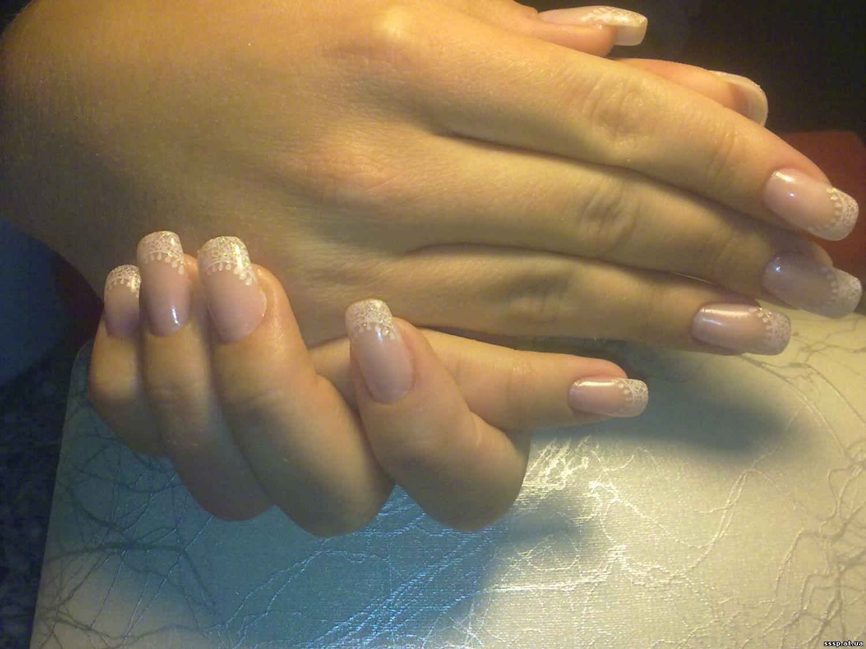 Наращивание широких ногтей